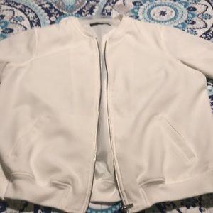 Rose and olive bomber jacket